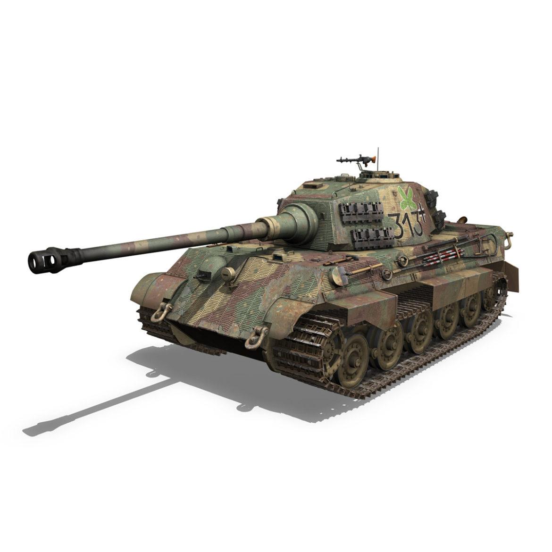 panzerkampfwagen vi – ausf b – tiger ii – 313 3d model 3ds c4d lwo obj 294558