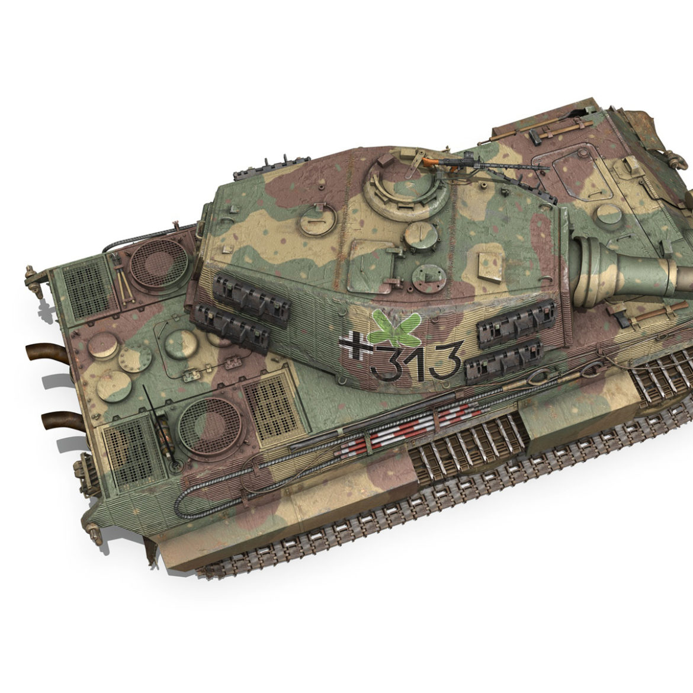 panzerkampfwagen vi – ausf b – tiger ii – 313 3d model 3ds c4d lwo obj 294559