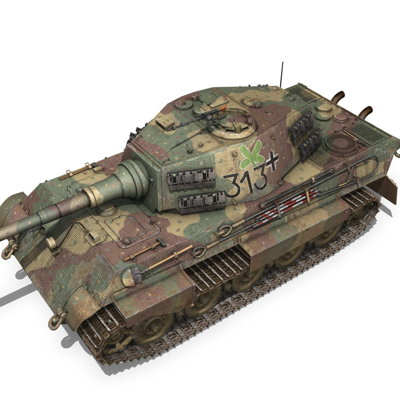 panzerkampfwagen vi – ausf b – tiger ii – 313 3d model 3ds c4d lwo obj 294560
