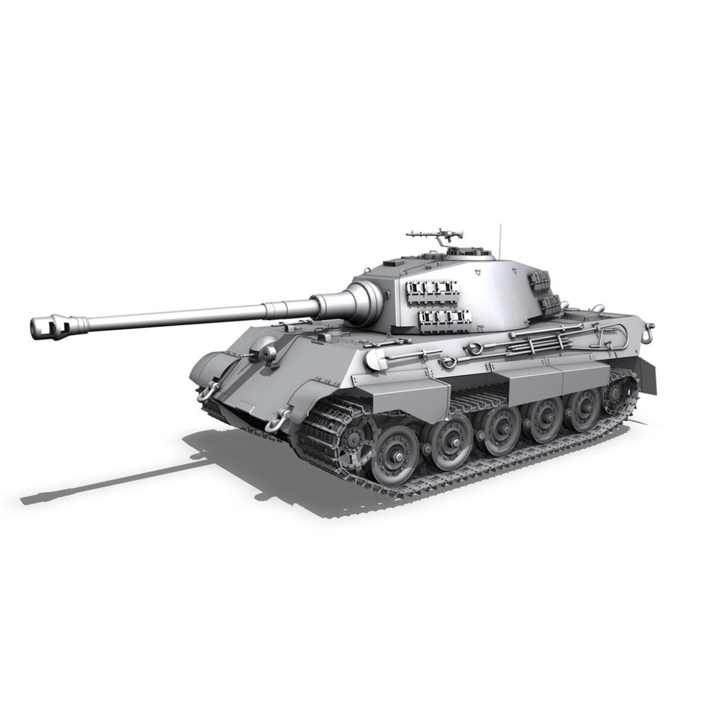 panzerkampfwagen vi – ausf b – tiger ii – 313 3d model 3ds c4d lwo obj 294562
