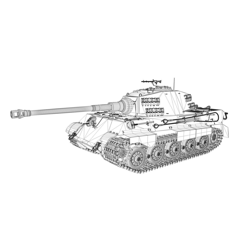 panzerkampfwagen vi – ausf b – tiger ii – 313 3d model 3ds c4d lwo obj 294563