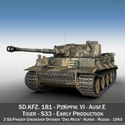 Panzer VI - Tiger - S33 - Early Production 3d model  294570