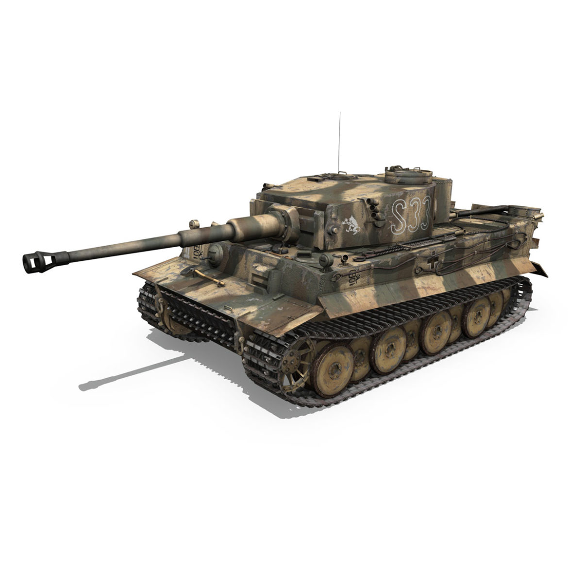 panzer vi – tiger – s33 – early production 3d model 3ds lwo lw lws obj c4d 294571
