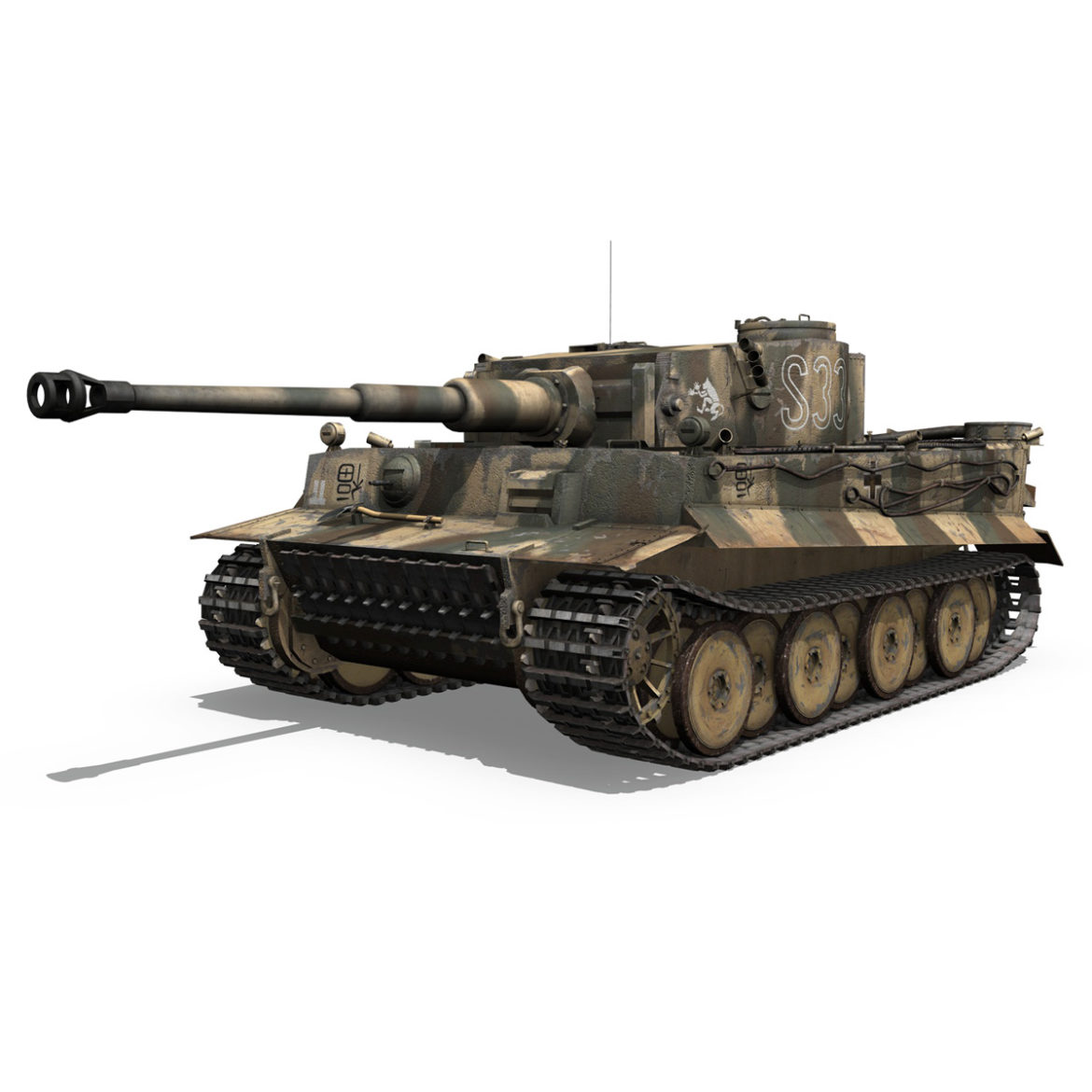 panzer vi – tiger – s33 – early production 3d model 3ds lwo lw lws obj c4d 294572