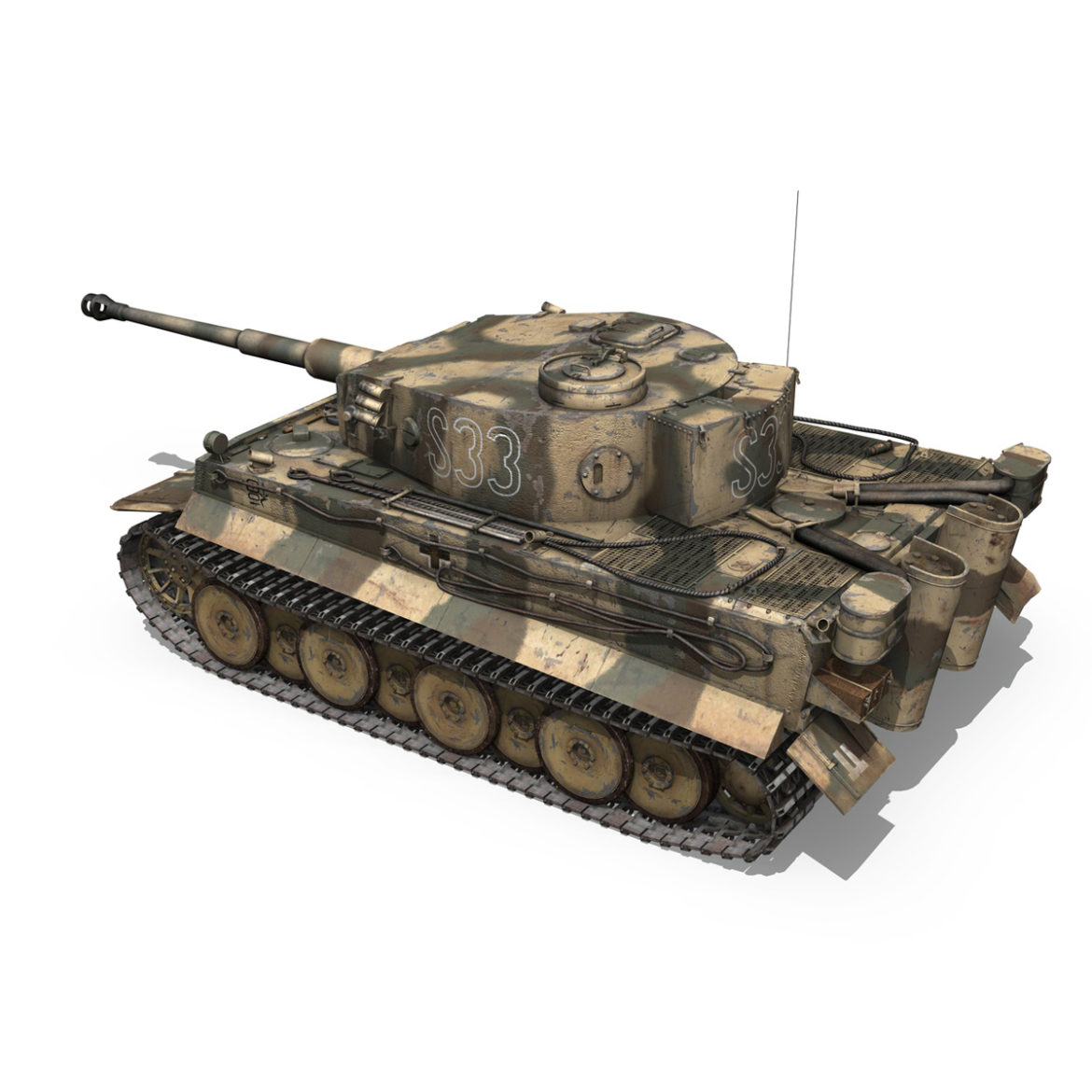 panzer vi – tiger – s33 – early production 3d model 3ds lwo lw lws obj c4d 294573
