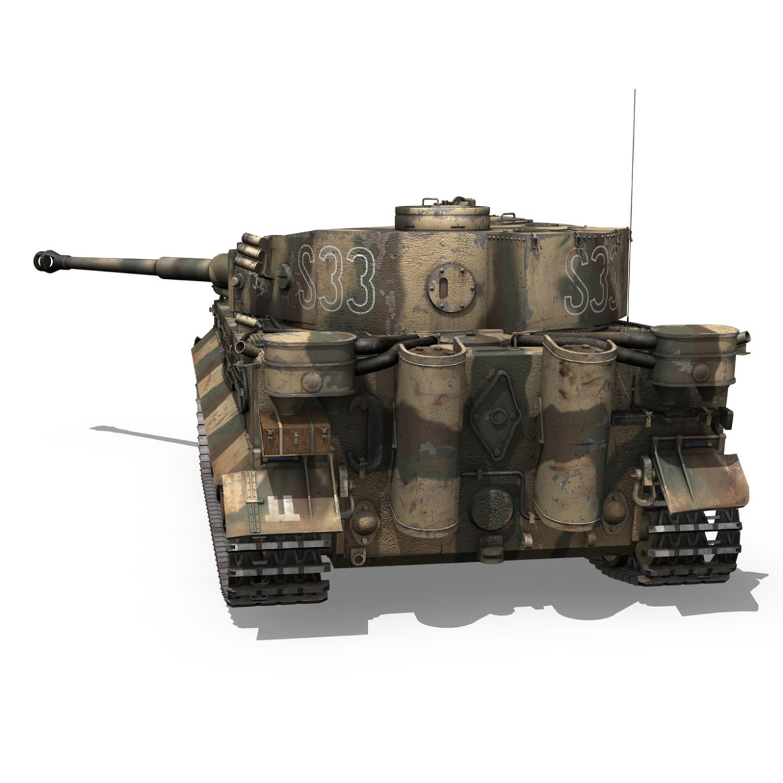 panzer vi – tiger – s33 – early production 3d model 3ds lwo lw lws obj c4d 294574