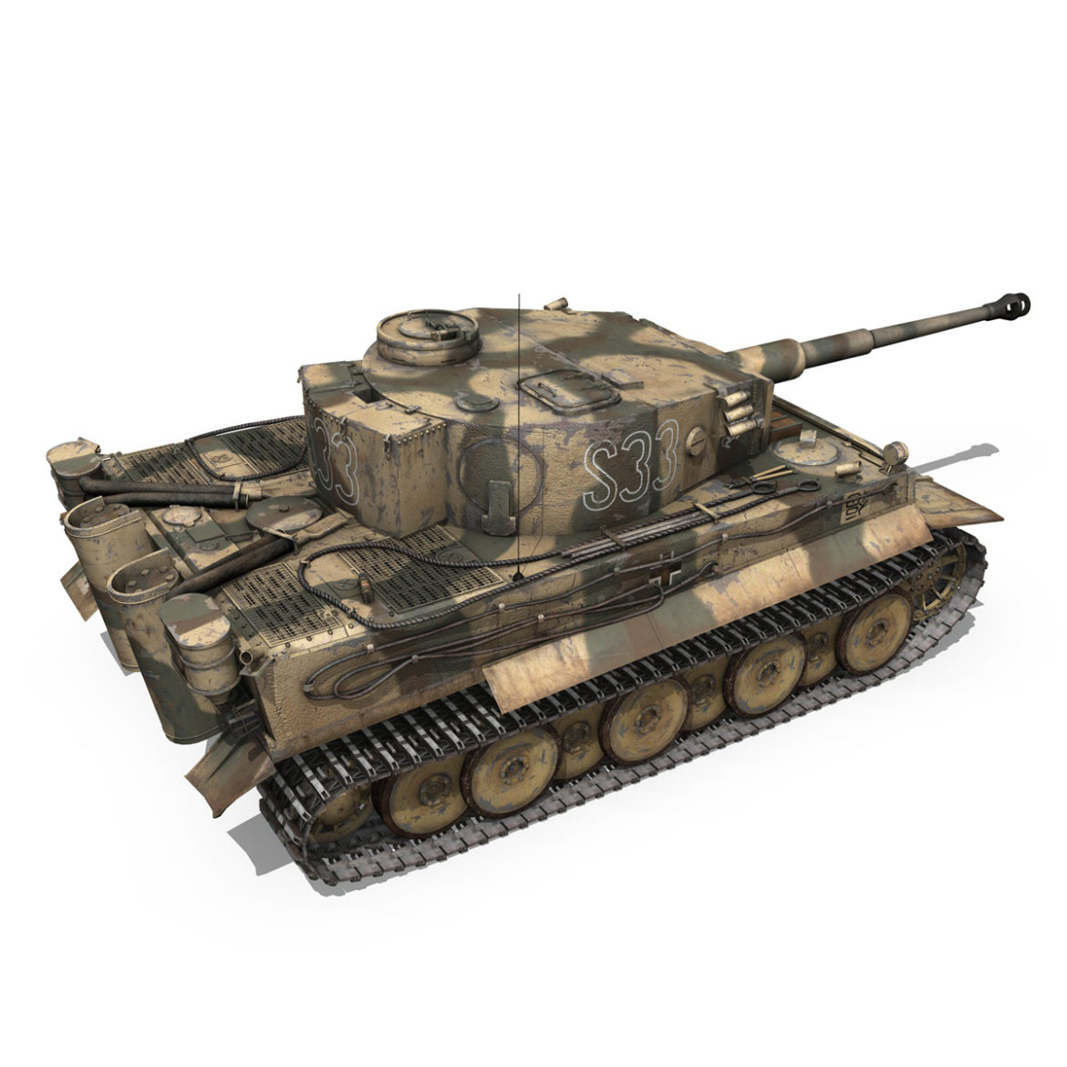 panzer vi – tiger – s33 – early production 3d model 3ds lwo lw lws obj c4d 294575