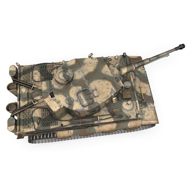panzer vi – tiger – s33 – early production 3d model 3ds lwo lw lws obj c4d 294576
