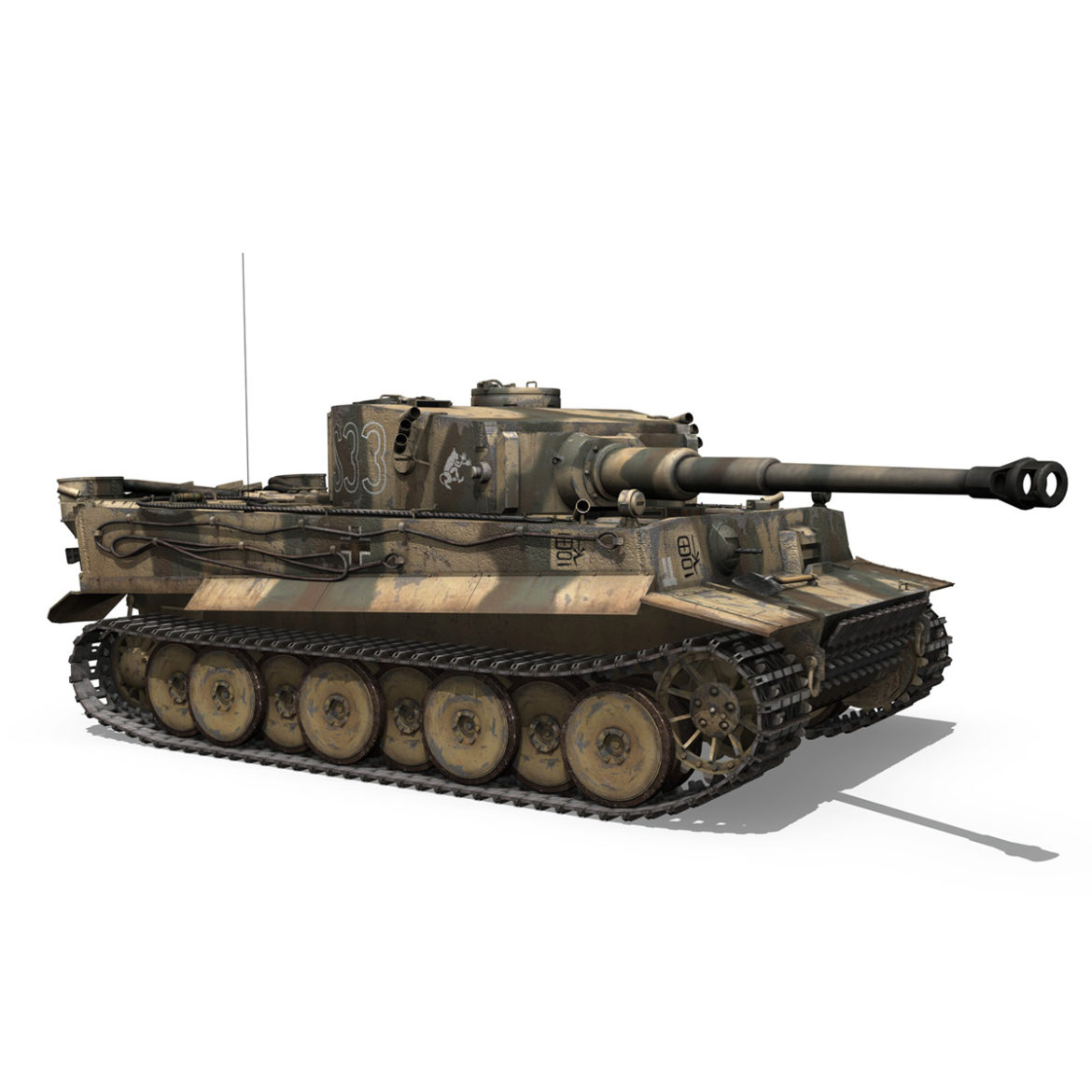 panzer vi – tiger – s33 – early production 3d model 3ds lwo lw lws obj c4d 294577