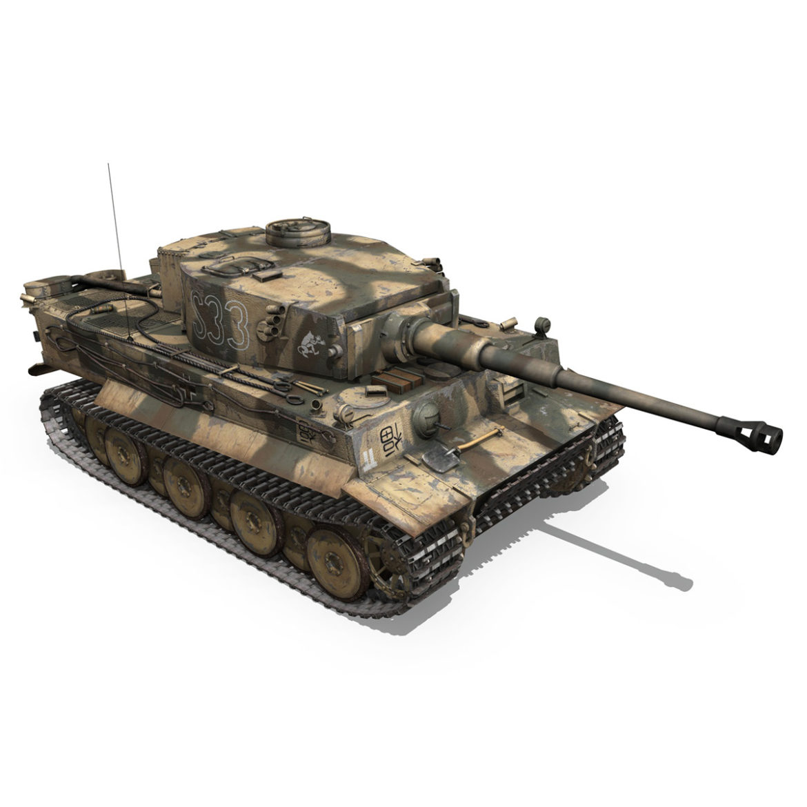 panzer vi – tiger – s33 – early production 3d model 3ds lwo lw lws obj c4d 294578