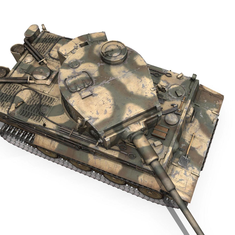 panzer vi – tiger – s33 – early production 3d model 3ds lwo lw lws obj c4d 294579