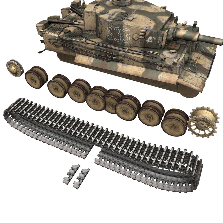 panzer vi – tiger – s33 – early production 3d model 3ds lwo lw lws obj c4d 294580