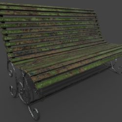 Old bench 3d model 3ds max fbx  obj 294702