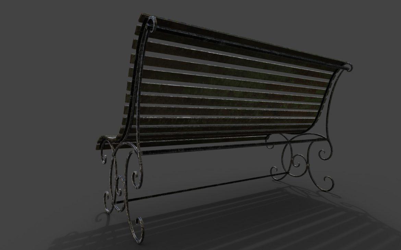 old bench 3d model 3ds max fbx  obj 294704