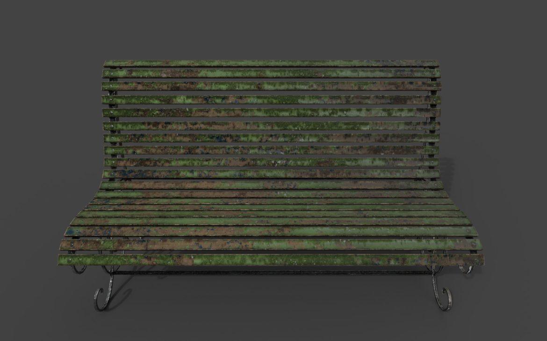 old bench 3d model 3ds max fbx  obj 294705