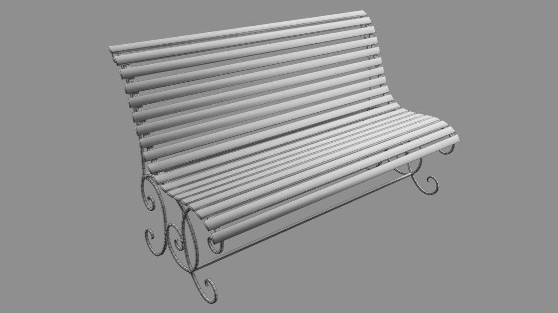 old bench 3d model 3ds max fbx  obj 294706