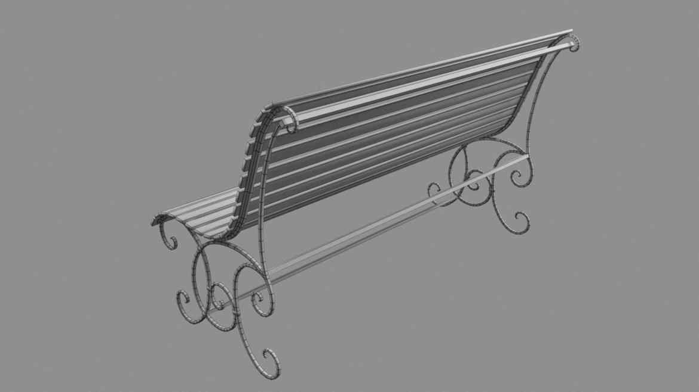 old bench 3d model 3ds max fbx  obj 294707
