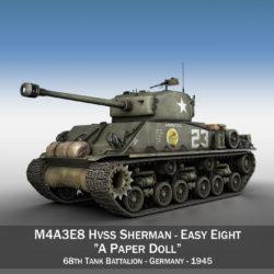 M4A3E8 Sherman - Easy Eight - A Paper Doll 3d model 3ds fbx c4d lwo obj 294917