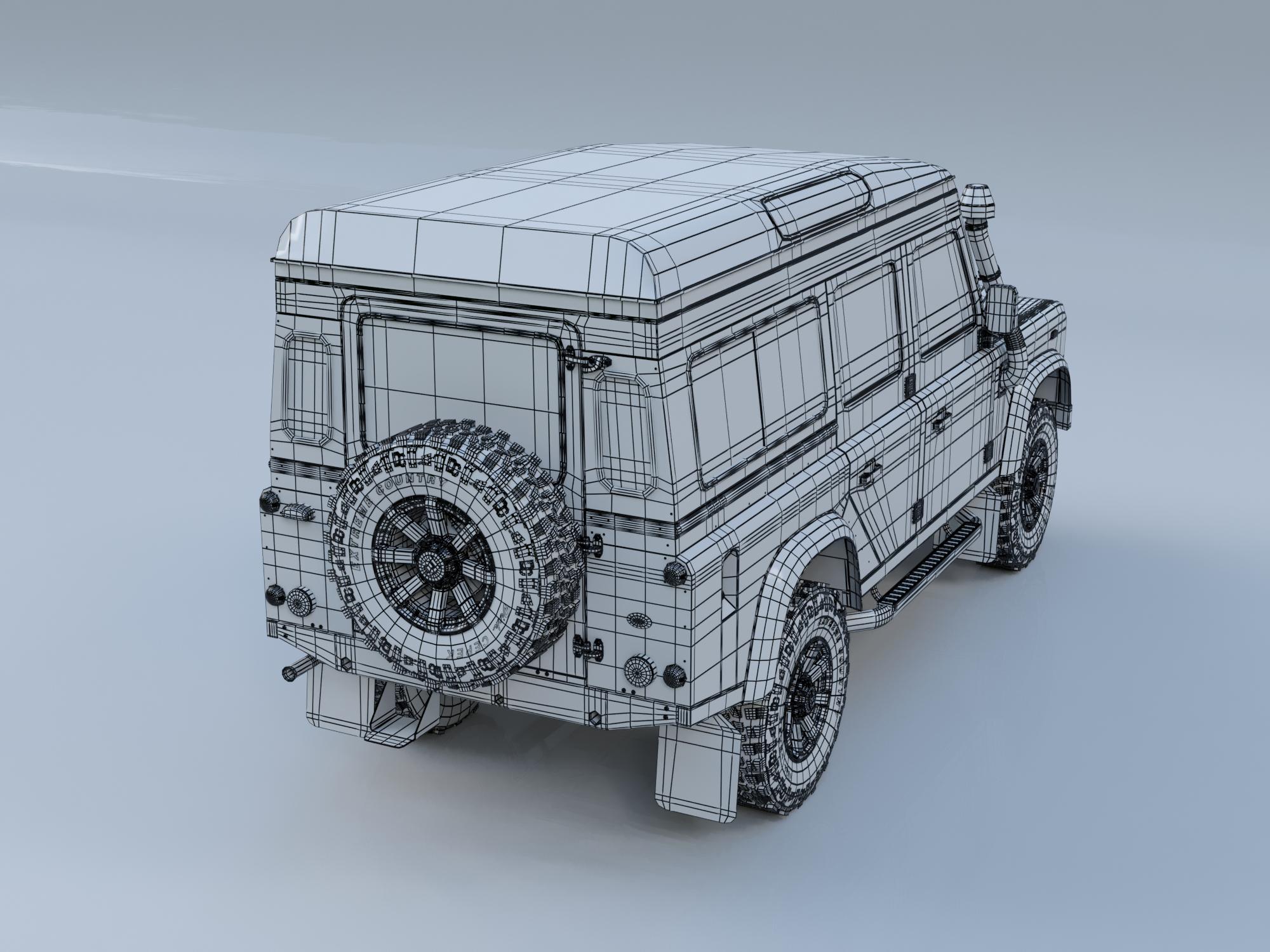 land rover defender 110 camper 3d model flatpyramid. Black Bedroom Furniture Sets. Home Design Ideas