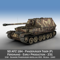ferdinand tank destroyer – tiger (p) – 231 3d model 3ds fbx c4d lwo obj 295017