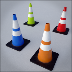 "A collection of 4 different coloured traffic cones optimized for use in video games or realtime applications. contains fbx and obj format meshes, as well as 4k png format texture maps for metallic roughness PBR material with AO. includes both opengl and directx normal maps, as well as prepacked metallic/smoothness texture for unity and prepacked… <a class=""continue"" href=""https://www.flatpyramid.com/3d-models/architecture-3d-models/objects/traffic-cone-game-asset-multi-pack/"">Continue Reading<span> Traffic Cone game asset multi-pack</span></a> <a class=""continue"" href=""https://www.flatpyramid.com/3d-models/architecture-3d-models/objects/traffic-cone-game-asset-multi-pack/"">Continue Reading<span> Traffic Cone game asset multi-pack</span></a>"