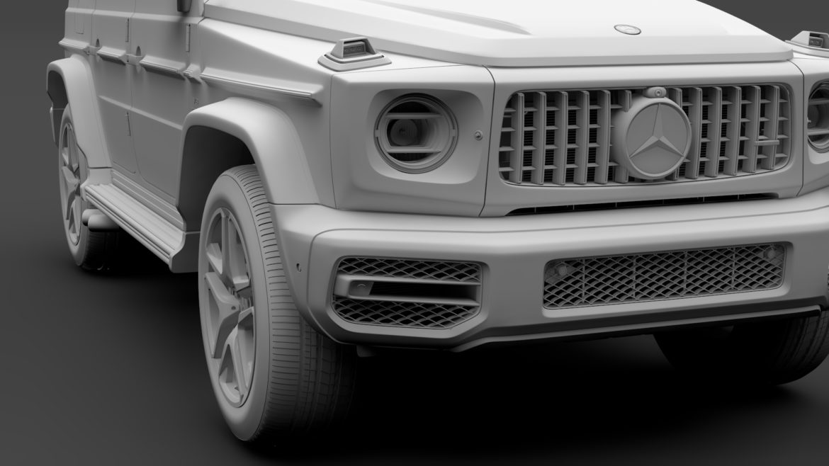 mercedes-amg g 63 night packet w464 2018 3d model 3ds max fbx c4d lwo ma mb hrc xsi obj 295410