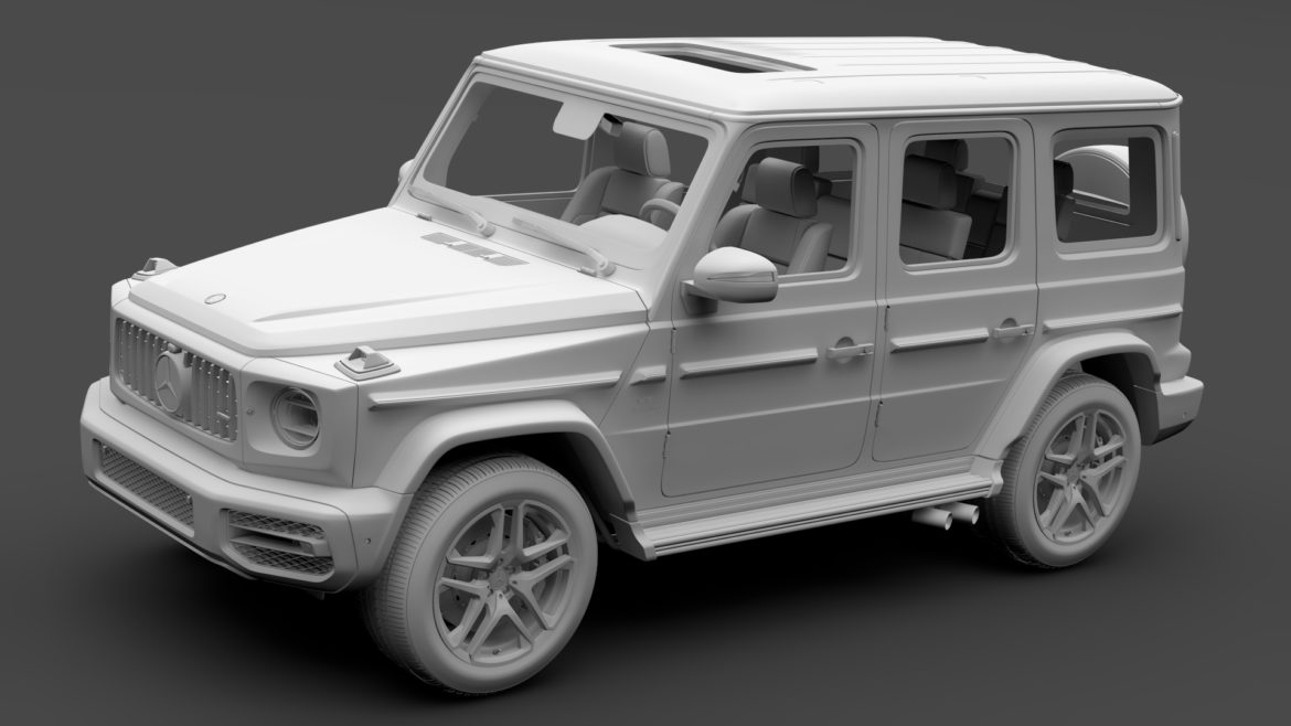 mercedes-amg g 63 night packet w464 2018 3d model 3ds max fbx c4d lwo ma mb hrc xsi obj 295411