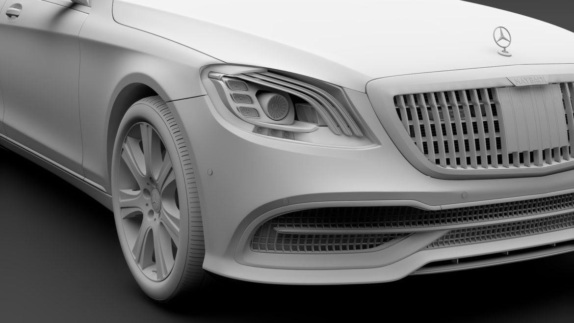 mercedes maybach s 650 pullman guard vv222 2019 3d model 3ds max fbx c4d lwo ma mb hrc xsi obj 295680