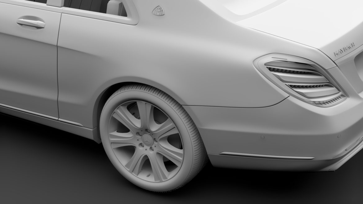 mercedes maybach s 650 pullman guard vv222 2019 3d model 3ds max fbx c4d lwo ma mb hrc xsi obj 295682