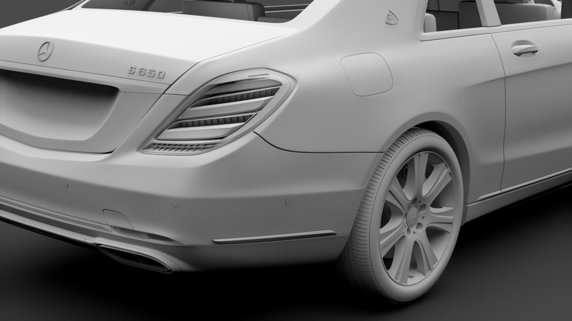 mercedes maybach s 650 pullman guard vv222 2019 3d model 3ds max fbx c4d lwo ma mb hrc xsi obj 295683