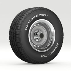 vintage wheel and tire 8 3d model 3ds max fbx obj 295710