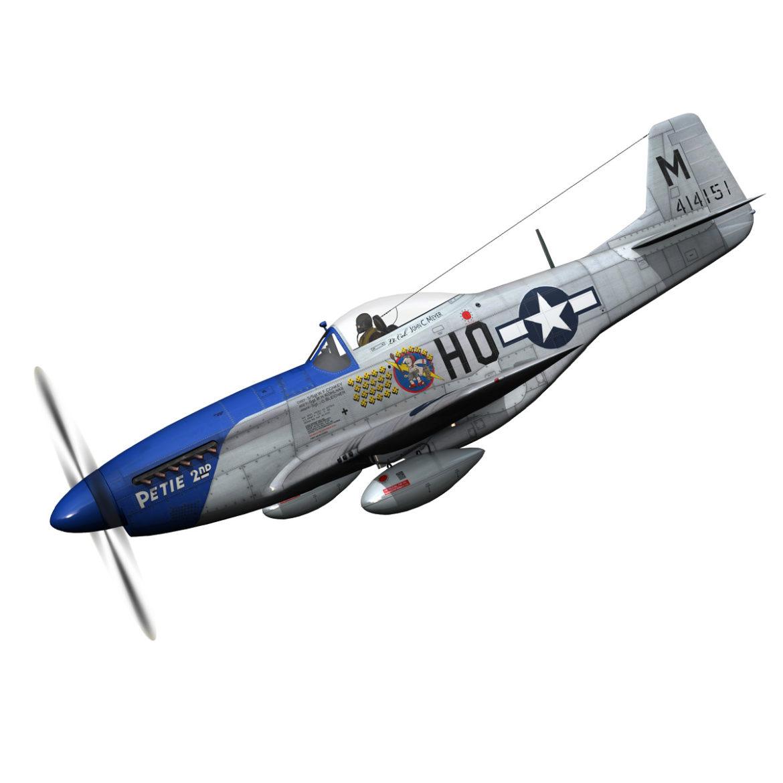 north american p-51d mustang – petie 2nd 3d model fbx c4d lwo obj 295718