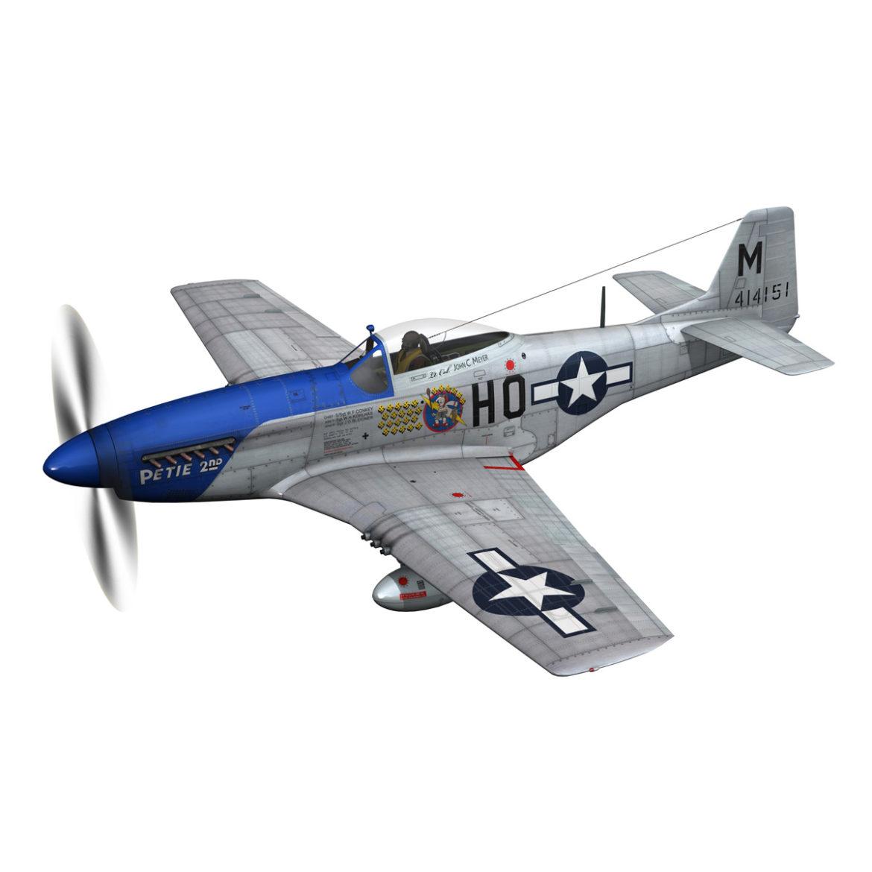 north american p-51d mustang – petie 2nd 3d model fbx c4d lwo obj 295719