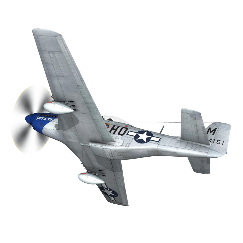 north american p-51d mustang – petie 2nd 3d model fbx c4d lwo obj 295720