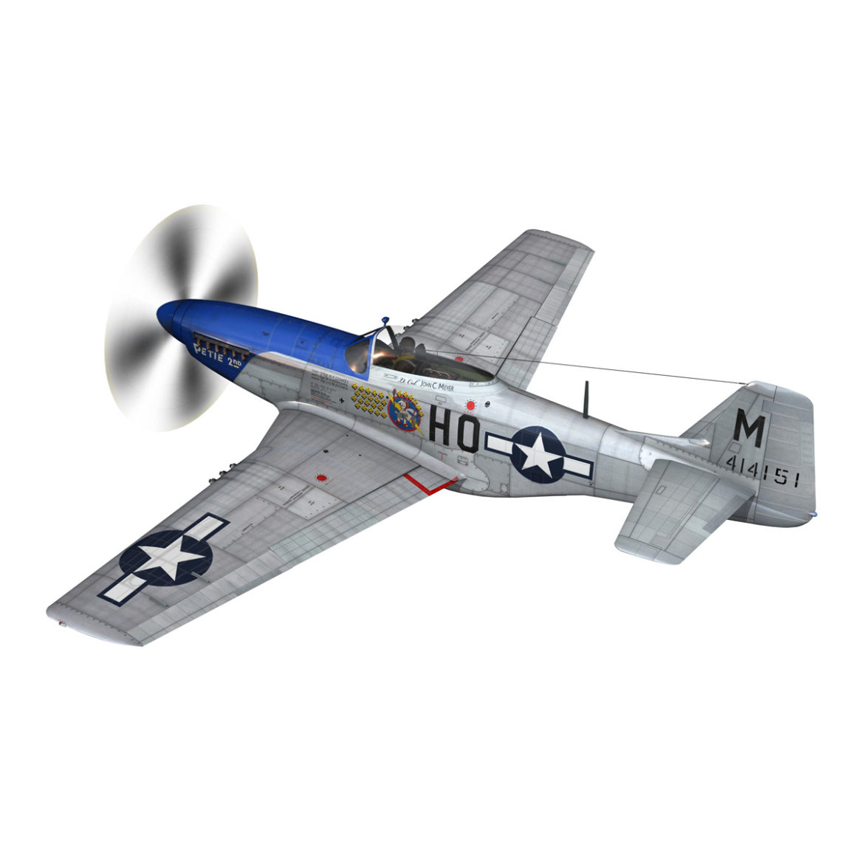 north american p-51d mustang – petie 2nd 3d model fbx c4d lwo obj 295721