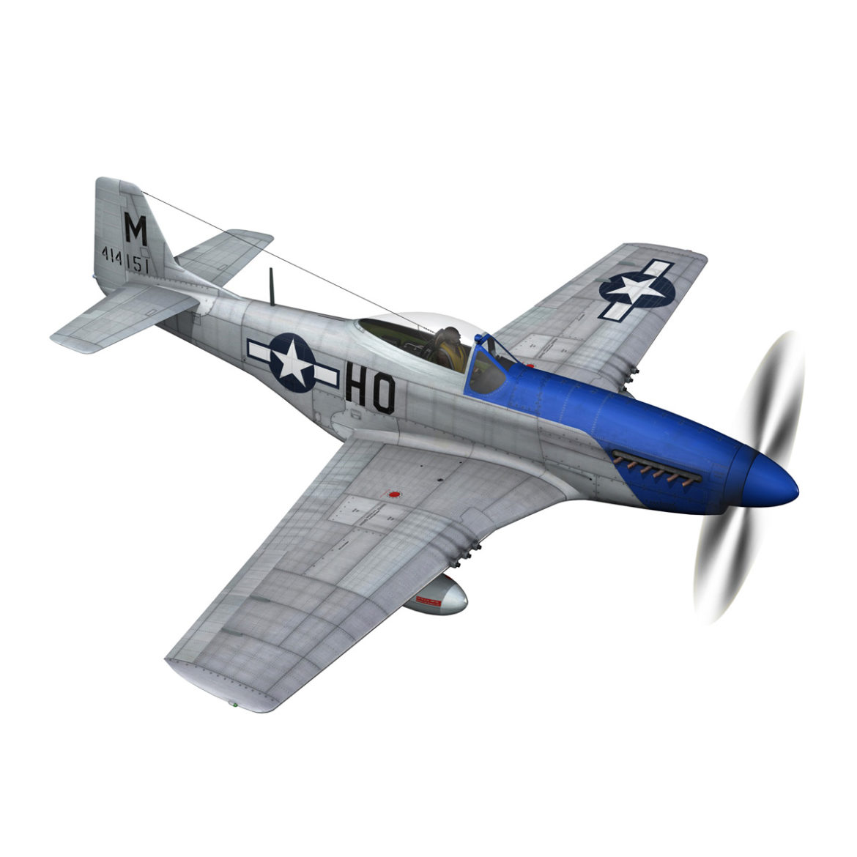 north american p-51d mustang – petie 2nd 3d model fbx c4d lwo obj 295722
