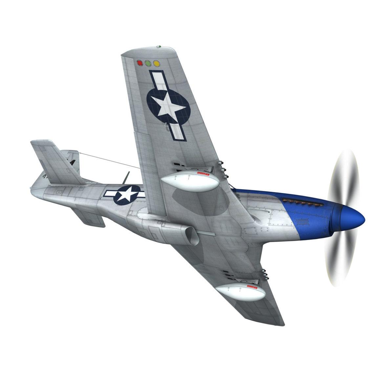 north american p-51d mustang – petie 2nd 3d model fbx c4d lwo obj 295723