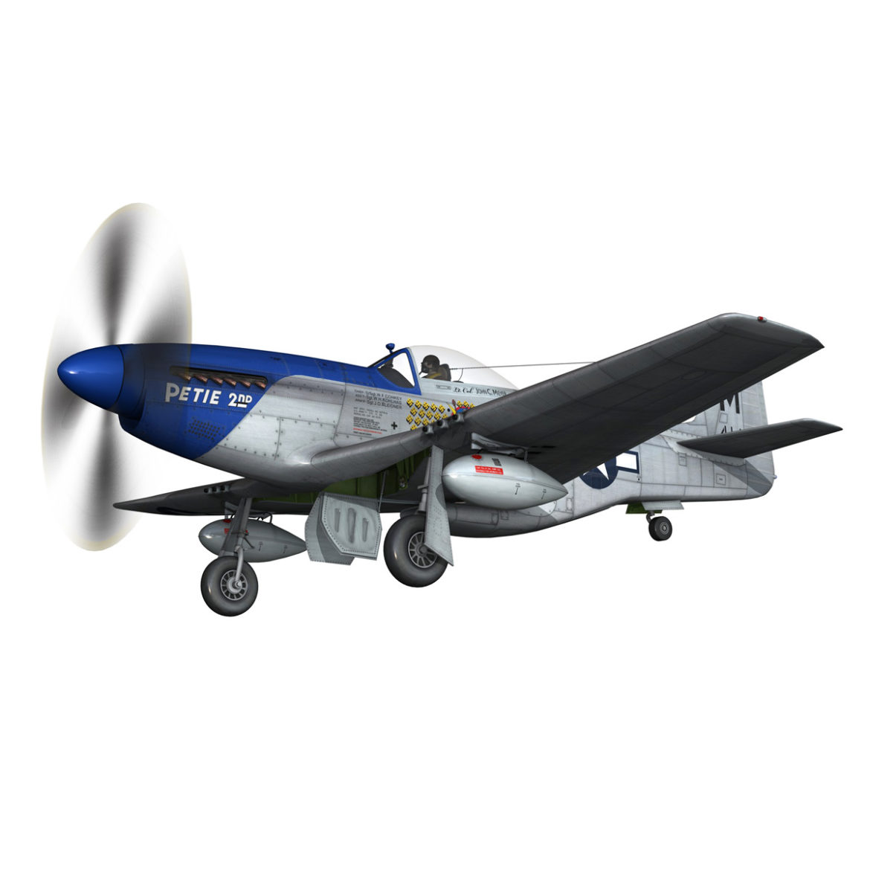 north american p-51d mustang – petie 2nd 3d model fbx c4d lwo obj 295724
