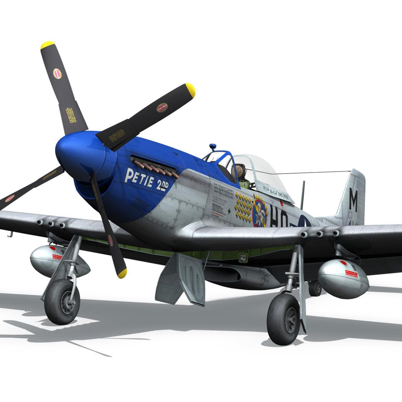 north american p-51d mustang – petie 2nd 3d model fbx c4d lwo obj 295725