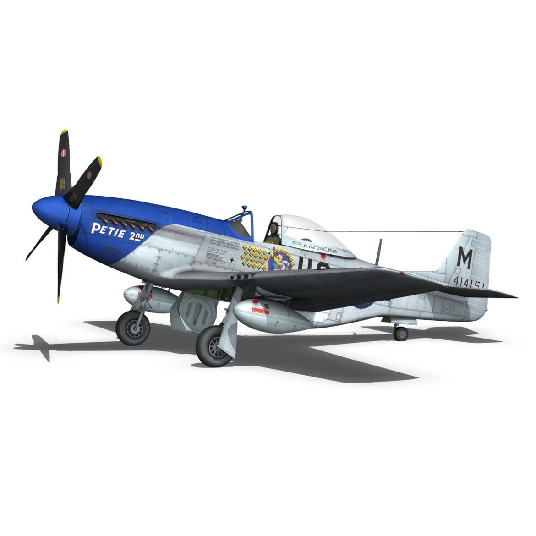 north american p-51d mustang – petie 2nd 3d model fbx c4d lwo obj 295726