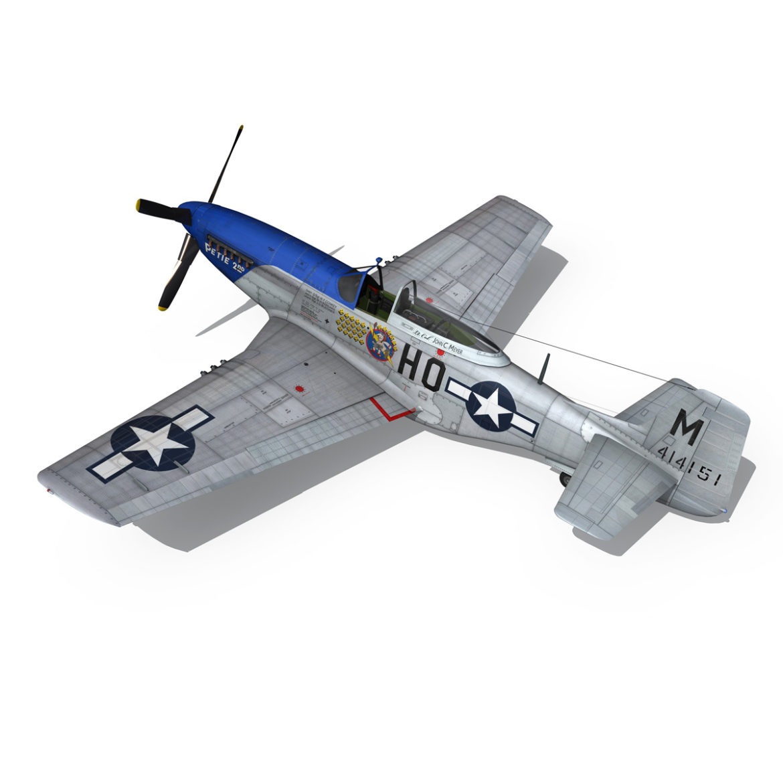 north american p-51d mustang – petie 2nd 3d model fbx c4d lwo obj 295727