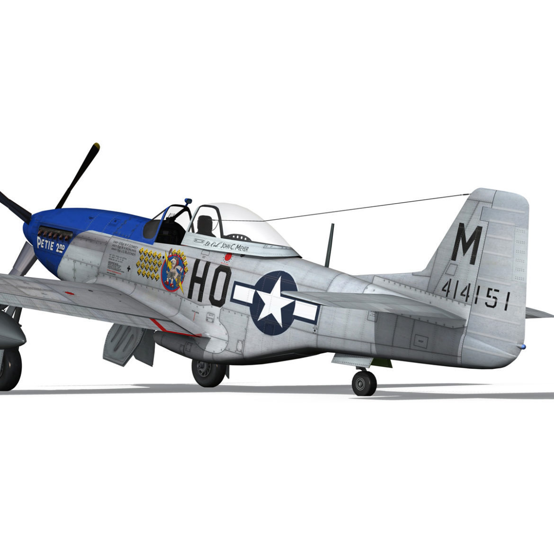 north american p-51d mustang – petie 2nd 3d model fbx c4d lwo obj 295728
