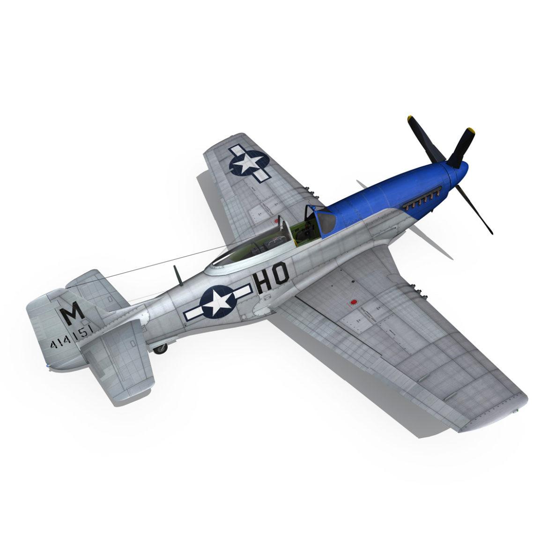 north american p-51d mustang – petie 2nd 3d model fbx c4d lwo obj 295729