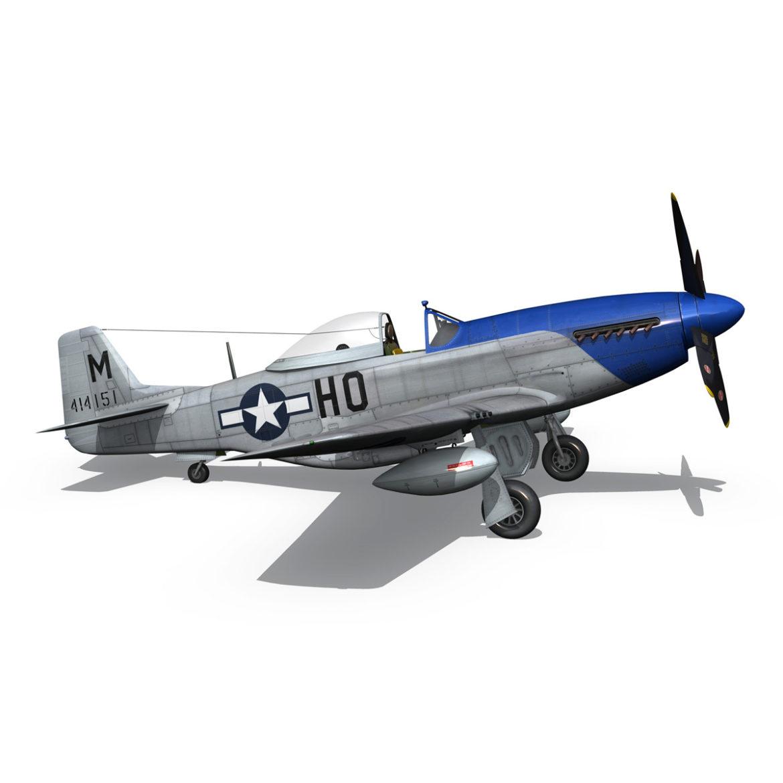 north american p-51d mustang – petie 2nd 3d model fbx c4d lwo obj 295730