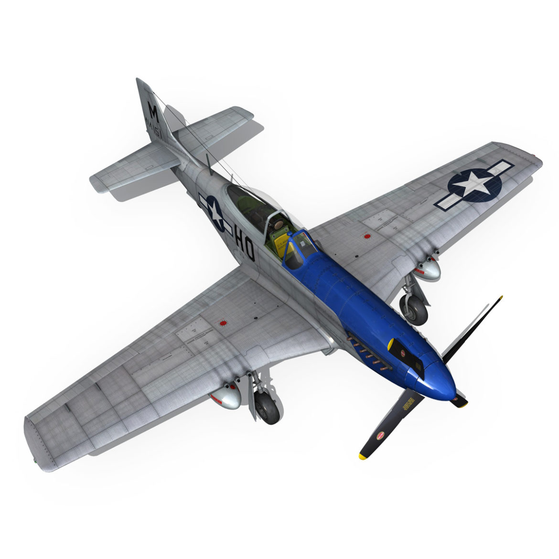 north american p-51d mustang – petie 2nd 3d model fbx c4d lwo obj 295731