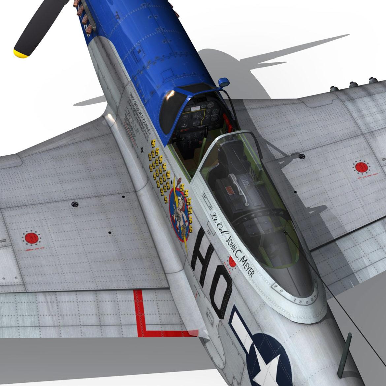 north american p-51d mustang – petie 2nd 3d model fbx c4d lwo obj 295732