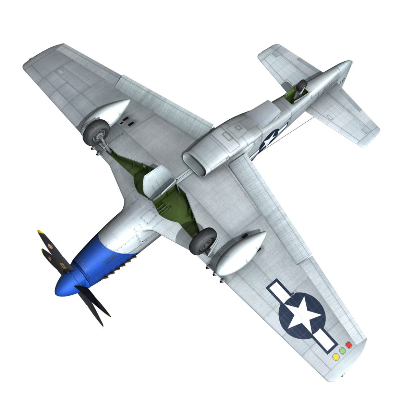 north american p-51d mustang – petie 2nd 3d model fbx c4d lwo obj 295733