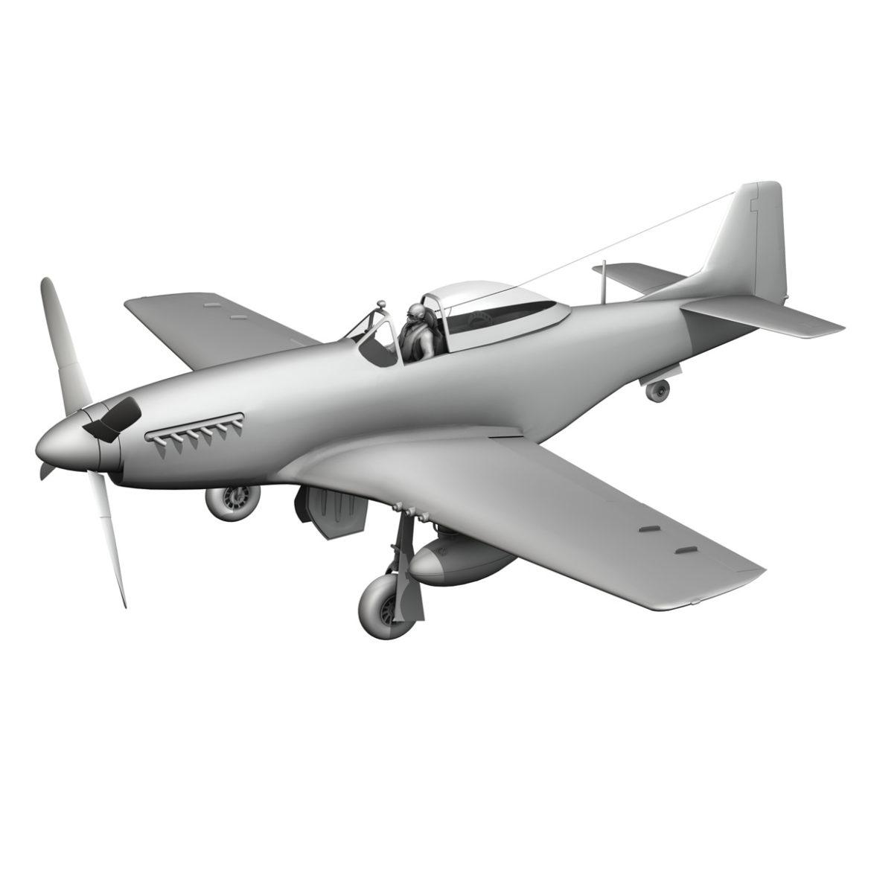 north american p-51d mustang – petie 2nd 3d model fbx c4d lwo obj 295735