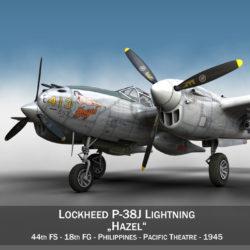 lockheed p-38 lightning – hazel 3d model fbx c4d lwo obj 295744