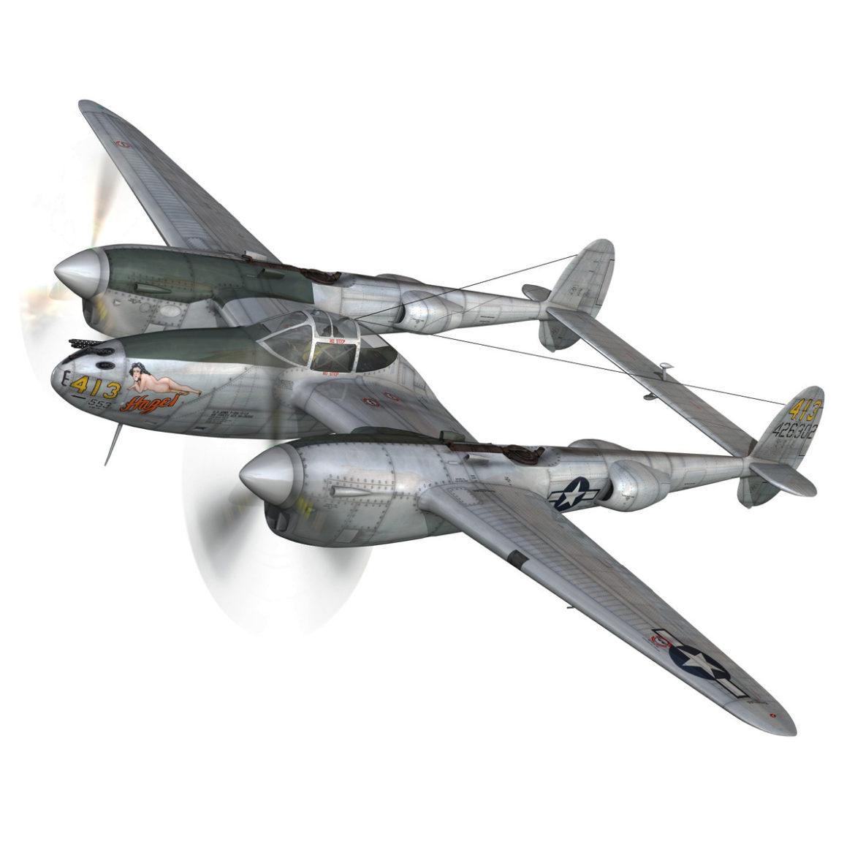 lockheed p-38 lightning – hazel 3d model fbx c4d lwo obj 295745